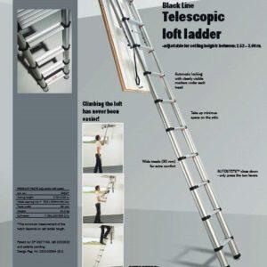Zoldertrap Loftladder Telesteps 2.50 - 3.00 m